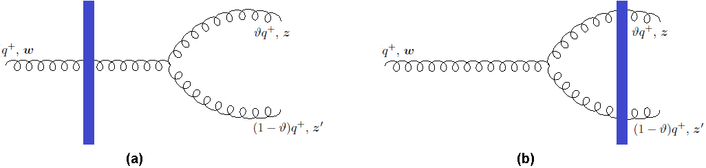 The two-gluon contributions to the gluon outgoing state.