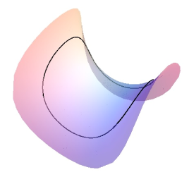 A closed curve with constant non-zero geodesic curvature in a minimal Enneper surface in
