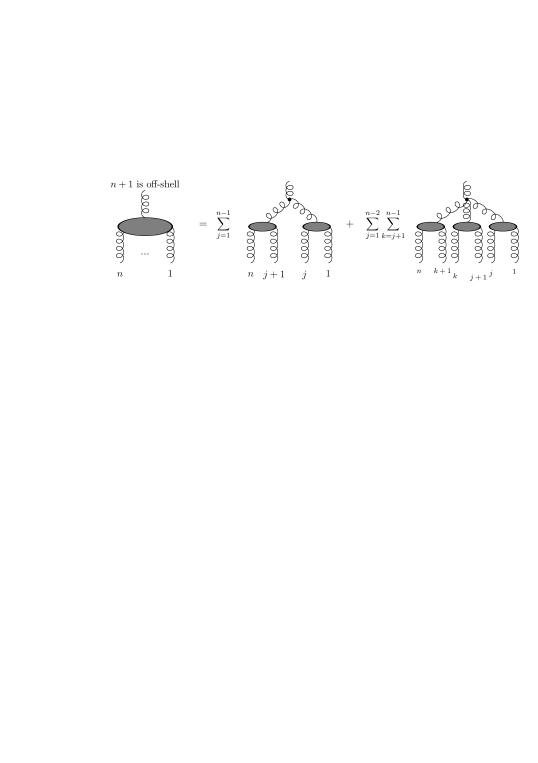 Off-shell recurrence relation: In an off-shell current particle