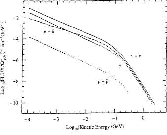 Spectrum of particles from uniformly distributed PBHs