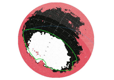 Representation in Lambert Projection of the Northern and Southern Galactic Hemispheres and the J-PAS selected areas. Each plot shows in pink the area with relatively high galactic extinction (as given by E(B-V)