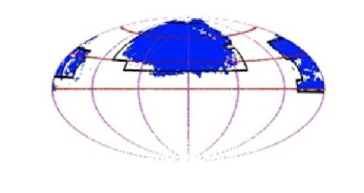 Aitoff projection of the full sky in equatorial coordinates, showing (left panel) the area covered by the Sloan Digital Sky Survey, with Stripe 82 highlighted in green. The right panel shows the best 6000+2000 square degrees selected in both galactic hemispheres as described in the text, as well as the J-PAS areas suggested in this document, that amount to 6500+2250 square degrees.