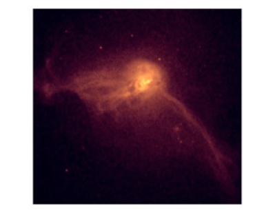 Chandra X-ray image of M87 showing structure in the hot gas associated with the AGN outburst