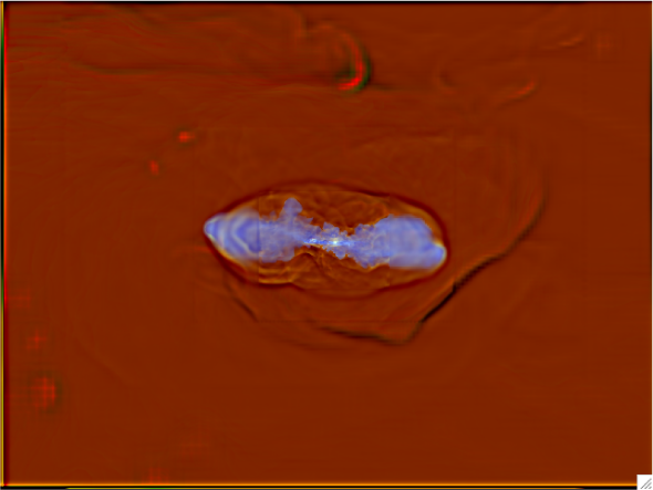Simulation of jets interacting with the intracluster medium (ICM) from