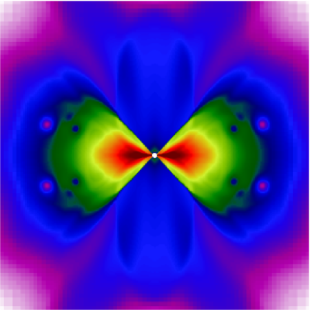 Collapse of the core of a rapidly rotating 14 M