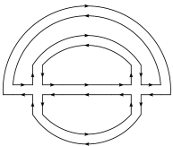 Connected diagram contributing to the correlation function