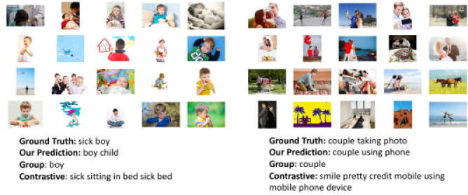 Failure cases on Stock Captions dataset. For the first example, the model prediction does not notice that the boy is