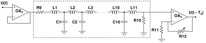 Circuit implimentation of the time delay unit with a buffer (