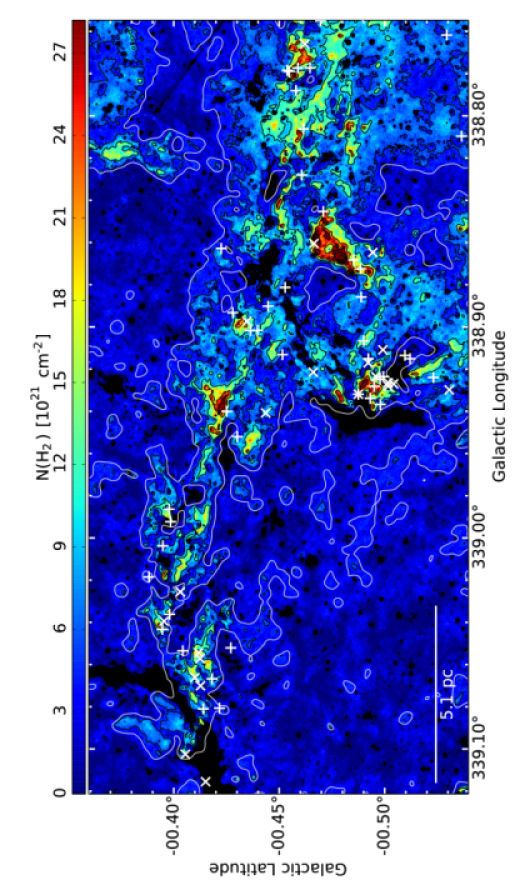 Zoom-in number one of the column density map (Fig.