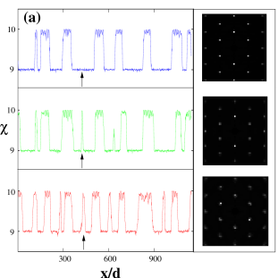 (color on-line) (a) Plot of