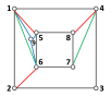 (a) to (d) are the topology graphs corresponding to each of the figures of Fig.