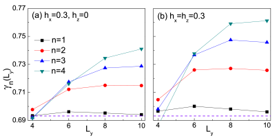 (Color online) Moving two point data fits for the extrapolated TEE
