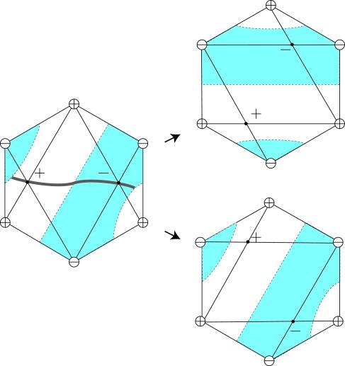 (1) Original hexagon