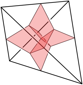 A butterfly in a tetrahedron.