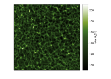 Left: continuum intensity at 227 mÅfrom the core of the 5250.2 Å. Right: Median value of the bias for the transverse component of the magnetic field computed with Eq.