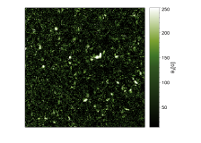 Left (centre): inferred value of the longitudinal (transverse) magnetic field for the 5250.2 Åline. Right: transverse field corrected from the bias due to pure noise. Central and right panels share the same colorbar.