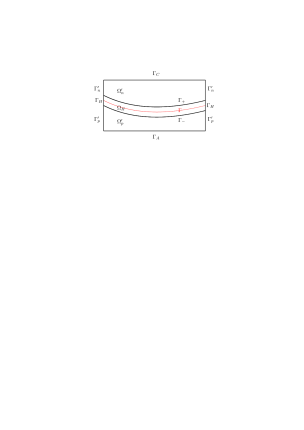 Geometry of the cell bulk and interface region.
