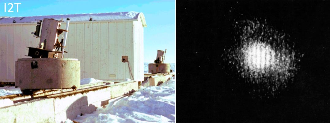 First fringes obtained with the I2T on Vega (Labeyrie et al. 1975, ©Observatoire de la Côte d'Azur ).