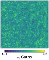 Estimated uncertainty maps,