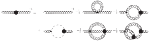 The gluon propagator Dyson-Schwinger equations. The loop diagrams in the gluon propagator DSE are called the tadpole, gluon loop, ghost loop, sunset, and squint.