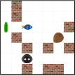 Examples of bypassing long walls. For each path, only three key steps are shown. (Green circles indicate successes.)