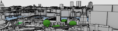 Bird's-eye view of the HoliCity CAD model