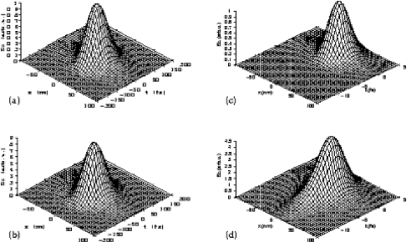 The energy flux of a transmitted pulse at the distance