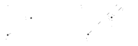 Graphical representatation of a Stokes phenomenon in the Borel plane. The dashed circle depicts contribution of non-integral terms in (