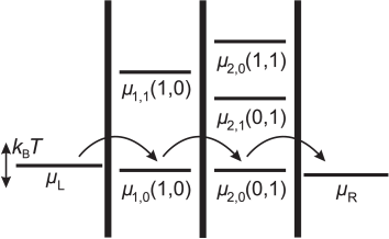 Schematic diagram of the electrochemical potentials