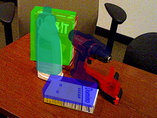 Qualitative results for 6D pose estimation. From left to right: PoseCNN (PC)