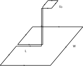 The connected correlator given in Eq.(