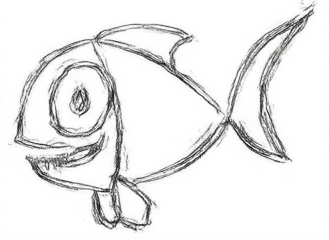 Outline results for a simple cartoon image. The input in (a) is directly filtered by the XDoG. We set