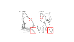 Examples of real pencil drawings in the outline (