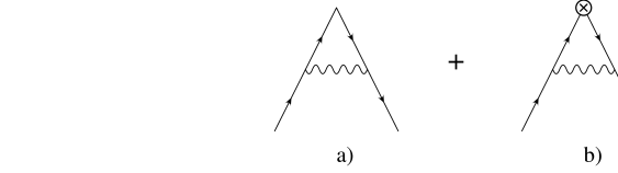 Vertex diagrams with the Clover action. The second and third diagrams refer to the contribution from the rotated part of the operator.