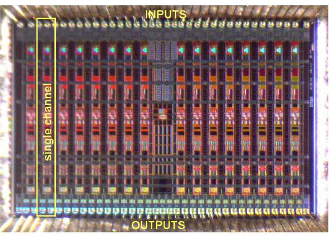 Layout of the PASA chip.