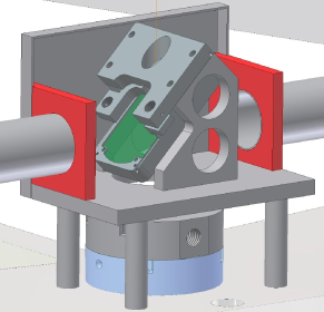 Example of the design of the interior of optics boxes installed on the TPC endplate. The shown boxes contain a