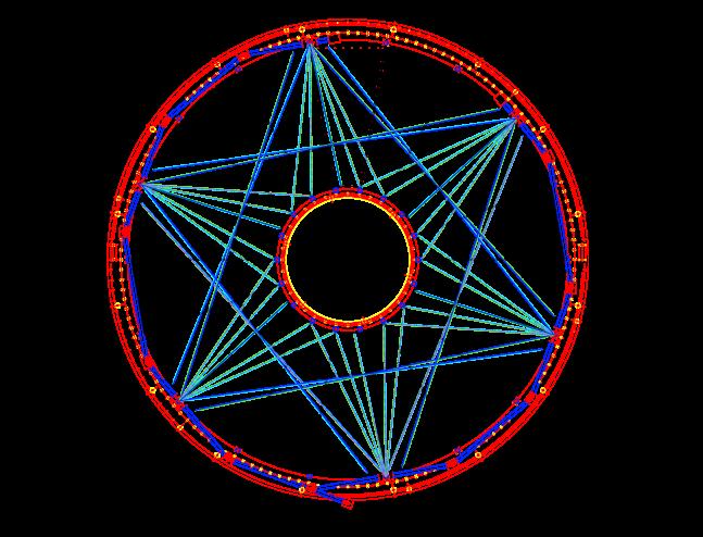 Ideal laser tracks in (r,