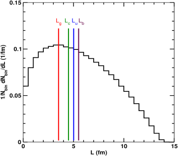 Distribution of path lengths (given by Eq.(