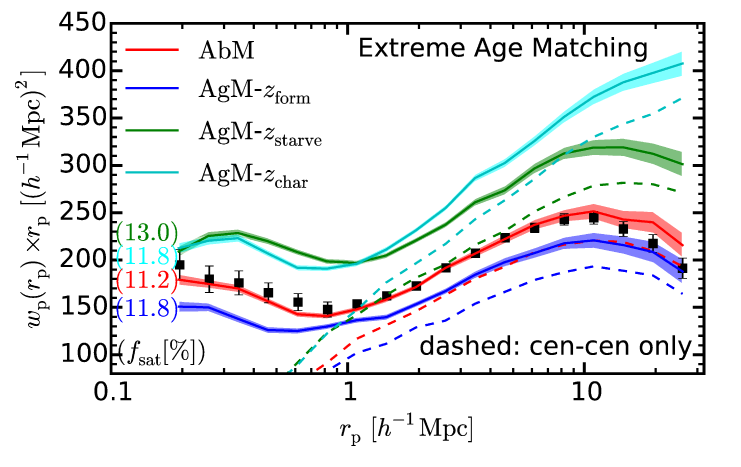 Impact of age matching (AgM model) on