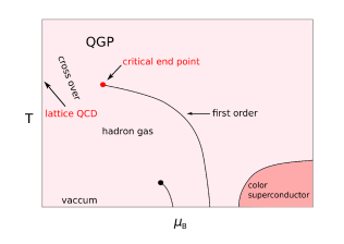Conjectured QCD phase diagram