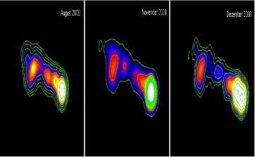 Sequences of the 43 GHz VLBA images of 3C111 before and after the