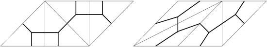 The lattice polyhedron subdivisions dual to the balanced graphs from Figure