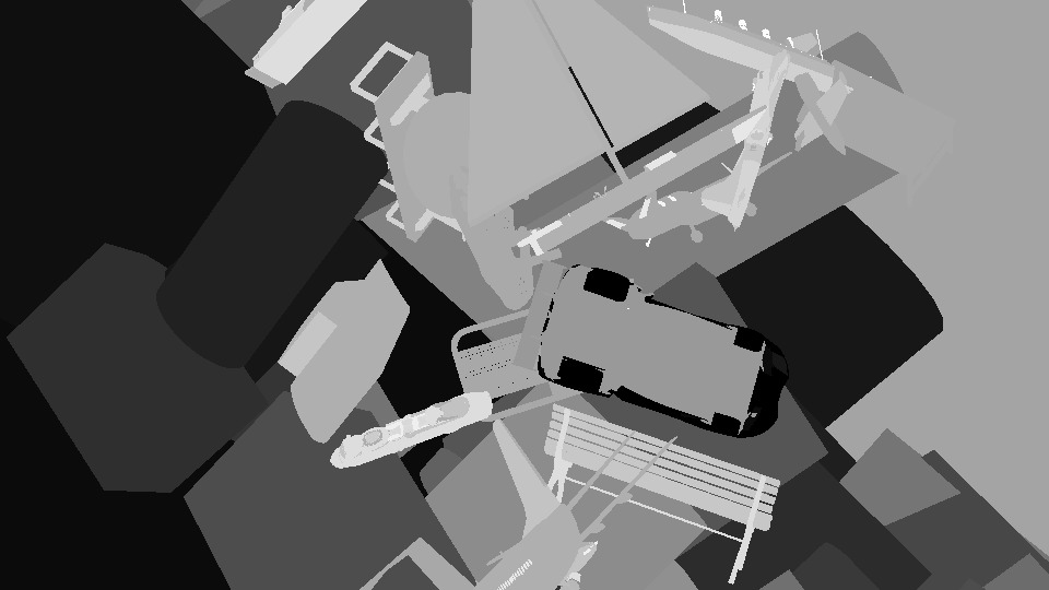 Segmentation data: object indices are unique per scene. Material indices can be shared across objects, but can be combined with the object indices to yield an oversegmentation into parts.