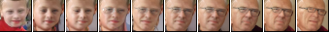 Linear interpolations in the embedding space decoded by the Pixel CNN. Embeddings from leftmost and rightmost images are used for endpoints of the interpolation.