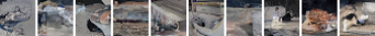 Left to right: original image, reconstruction by an auto-encoder trained with MSE, conditional samples from a Pixel CNN auto-encoder. Both auto-encoders were trained end-to-end with a