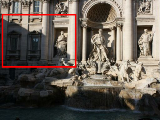 Some failure cases include: (a) input photo collections that do not span the full range of desired viewpoints, or (b) intrinsic limitations of MPI leading to poor extrapolation to large camera motions. In addition, as shown in (c) (exemplar image with strong shadow) and (d) (resulting rendering), our method can fail to model strong cast shadows produced by occluders outside the reference field of view.