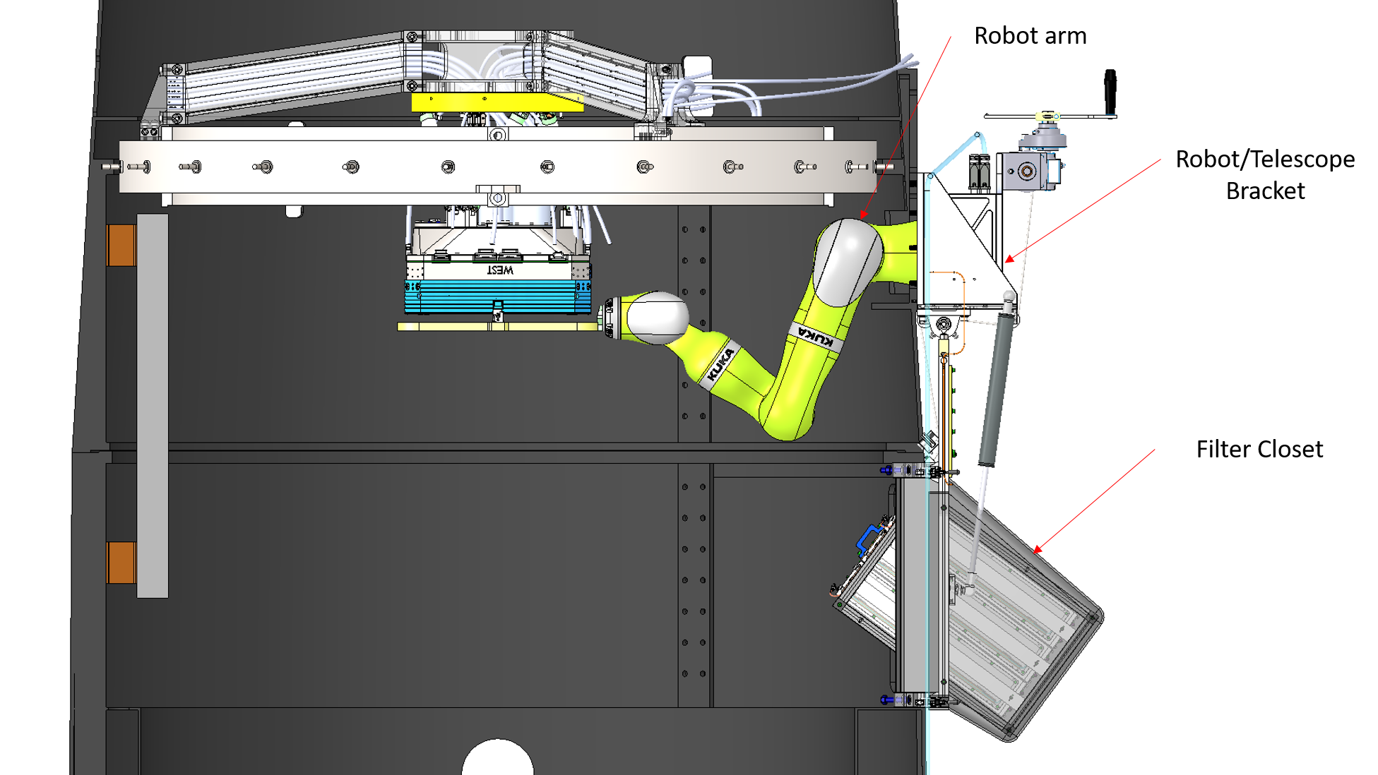 Overview of the ZTF Filter Exchanger System.