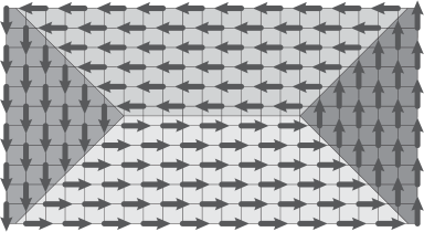 """An """"Empty room"""" configuration of square dimers"""