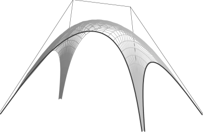 The Ronkin function of a hyperbola