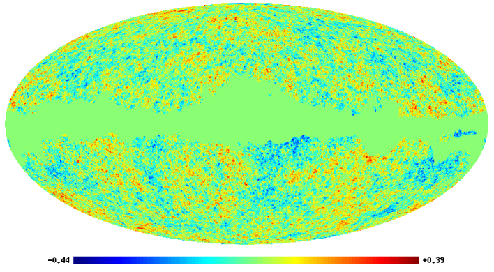 Analysed WMAP map at